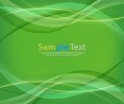 Abstract Green Wave Curves Background