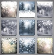 Blurry Snowy Xmas Backdrop Pack