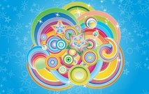Multicolored circles fairy-tale pattern