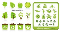 2 sets of green icon