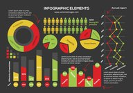 Colorful Infographic Element Pack in Flat Style