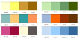 12 set of color combinations (PSD)