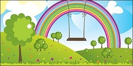 Rainbow Flying trapeze