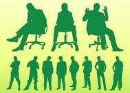 Sitting And Standing Men