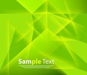 Abstract Green Polygonal Background