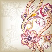 abstract floral pattern background 03