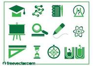 Education Icons Vectors