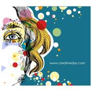 ABSTRACT FEMALE FACE VECTOR.eps