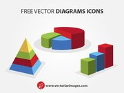 Clean 3D Diagram Icons