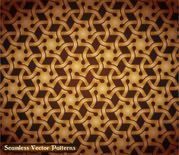 Seamless Golden Vintage Damask Pattern