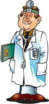 Medical person vector 1