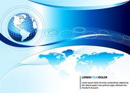 Blauwe Business Globe achtergrond Template