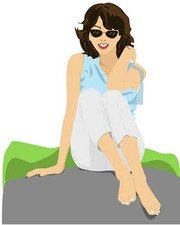 Sit girl position vector 33