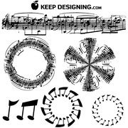 MUSIC NOTES VECTOR PACK.eps