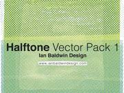 Gratis Halftone patroon Illustrator Vector Pack