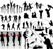 Motion Vector People silhouette