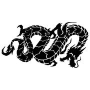 DRAGON SNAKE VECTOR IMAGE.eps