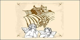 Line drawing Cupid and Eros Manor