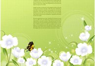 Flower background template