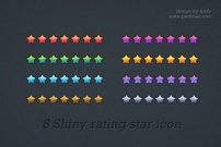 Shiny multicolor rating star icon