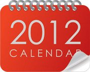 Simple Red 2012 calendarios