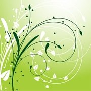Abstract Swirl Floral Background