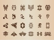 Vintage Symbol Elements Vector Set