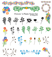 Free Flowers'n Plants Vector Set