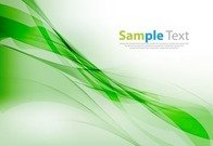 Vector Smooth Green Wave Background Illustration