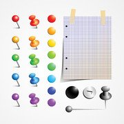 Push Pin Vector Set (Free)