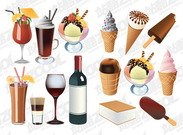 Ice-cream and drinks