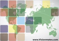 World Map Free Business Cards Templates