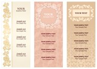 Vintage stylish templates of invitation cards