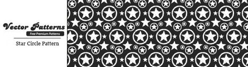 Grungy Star cirkel Photoshop en Illustrator patroon