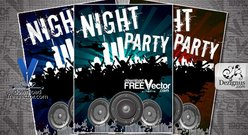 Template Flyer For Night Party