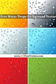 Free Water Drops Background
