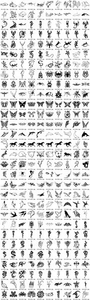 300 models of various animal totems