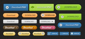 Download Buttons PSD