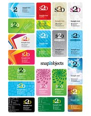 Free vector business card template designs pack 2
