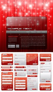 Christmas style of Web design elements