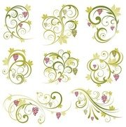 Abstract Floral Vine Grape Ornament
