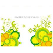 FLORAL ABSTRACT CIRCLES BACKGROUND.ai