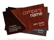 Wooden theme business card template