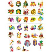 CHRISTMAS ICONS VECTOR FREE PACK.eps