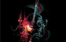Abstract Musical Grungy Background