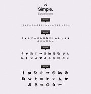Simple Social Icons vol1