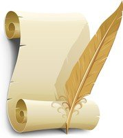 Vector Old Paper With Quill Pen