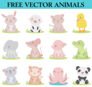 Gratis Cute Cartoon dieren
