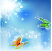 Free Vector Abstract Butterfly Background