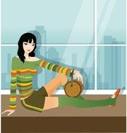 Sit girl position vector 24